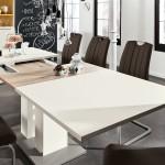 Esstisch ausziehbar weiß 160-240 cm Reno 10 Personen von Musterring