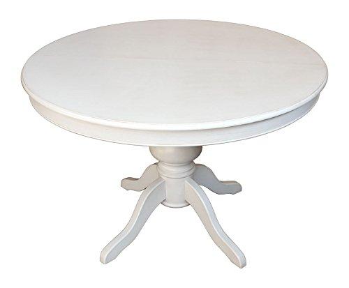 Esstisch ausziehbar rund – weiß – Arteferretto -Durchmesser 120 cm – ausziehbar bis 148 cm
