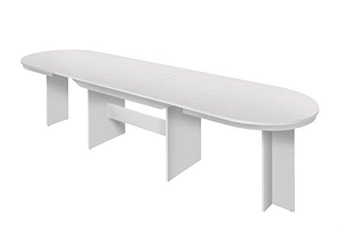 Esstisch ausziehbar weiß  Intertrade 001282 – Esstisch ausziehbar bis 14 Personen, 160-310 x ...
