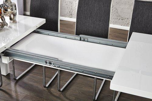 Esstisch ausziehbar weiß  Invicta Interior Esstisch ausziehbar weiß, 160-240 cm ...