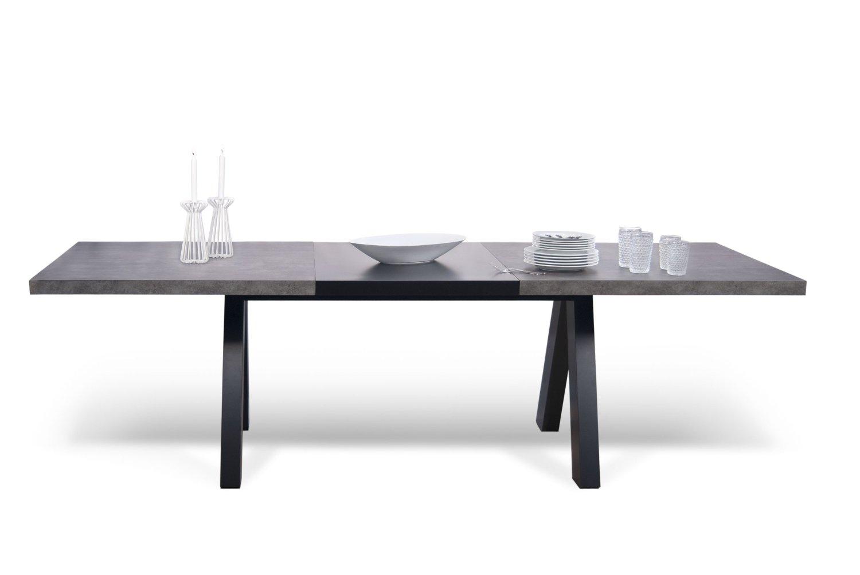 Esstisch ausziehbar schwarz  Mäusbacher Esstisch ausziehbar mit Beinen in Sternenform –  schwarzstahl/keramik