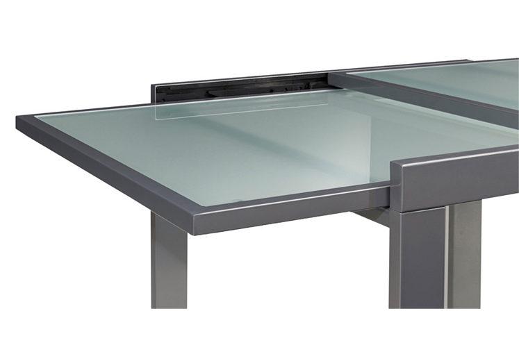 Esstisch glas rund  Esstisch ausziehbar Glas bis 180/240 cm, alu, weiß oder verchromt ...