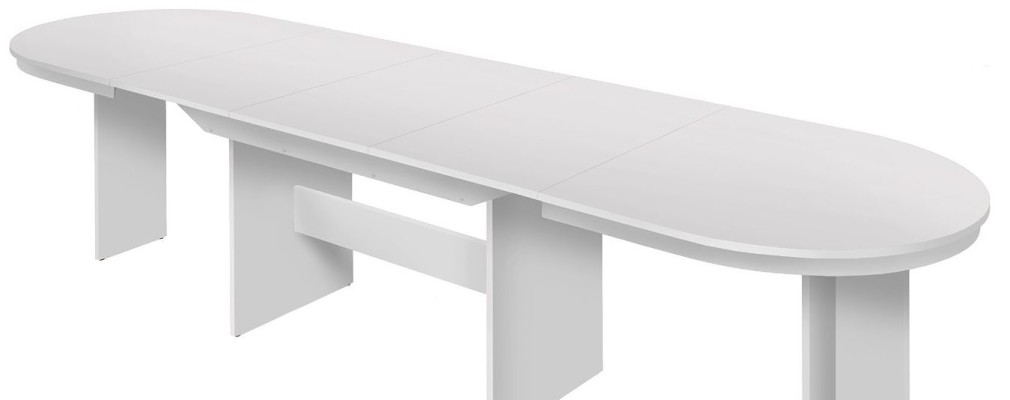 Esstisch ausziehbar rund weiß
