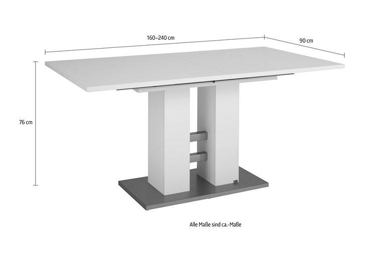 esstisch ausziehbar wei rund 100 cm set one by musterring esstisch. Black Bedroom Furniture Sets. Home Design Ideas