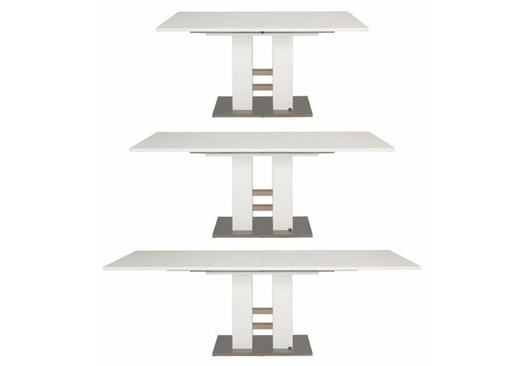 set one by musterring esstisch ausziehbar wei reno 160 240 cm. Black Bedroom Furniture Sets. Home Design Ideas