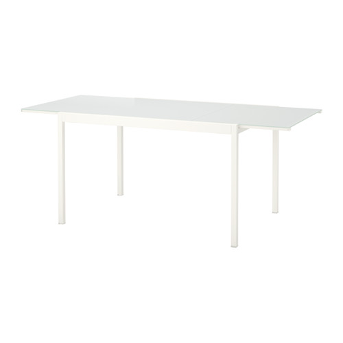 ikea glastisch glivarp ausziehbar 125 188 cm x 85 cm. Black Bedroom Furniture Sets. Home Design Ideas