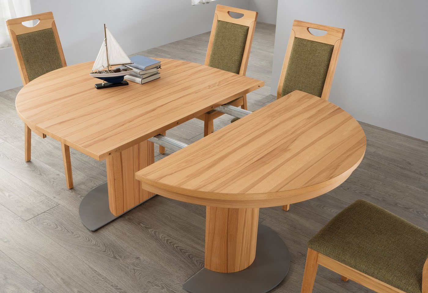 Säulen-Kulissentisch mit Auszugsfunktion »my home«, runde Tischplatte, Durchmesser 120 cm