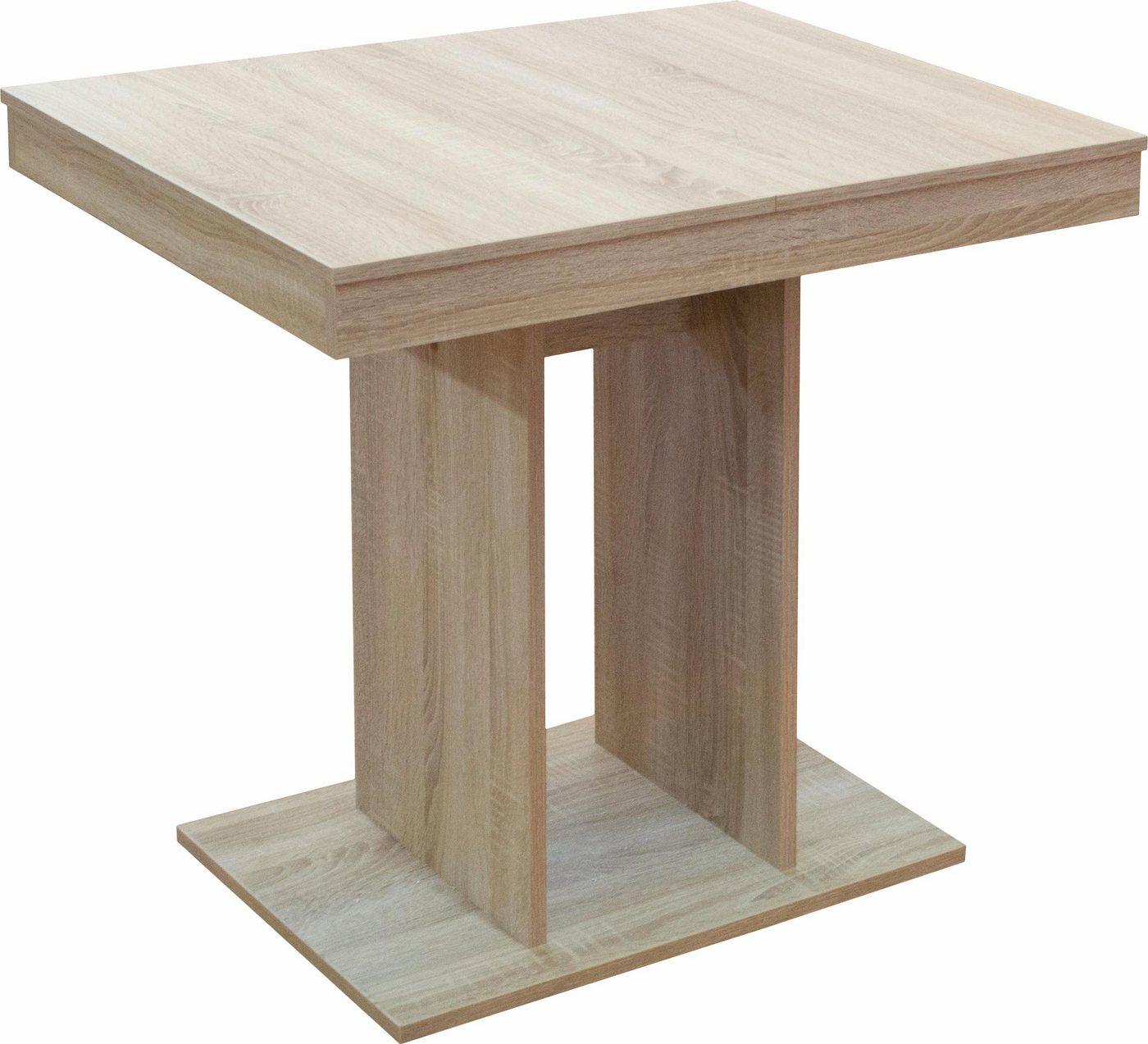 Esstisch für 4 Personen 80×60 cm ausziehbarer auf 120×60 cm für 6 Personen