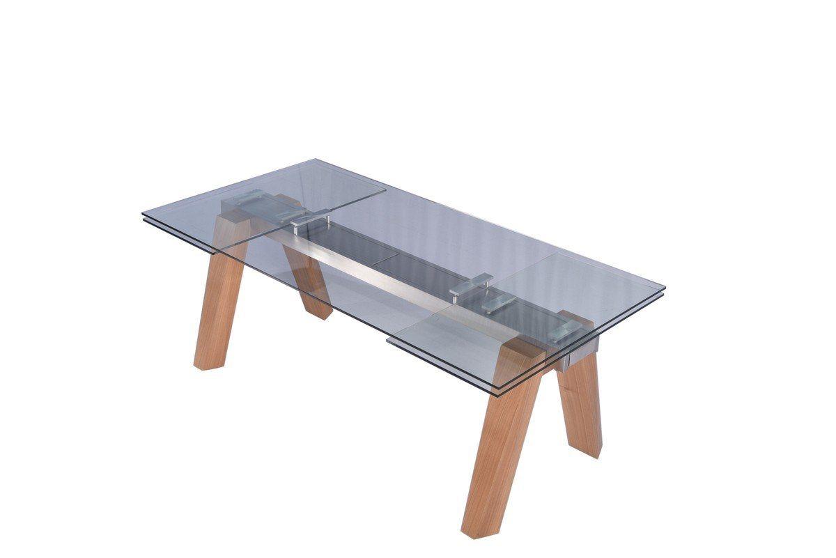 Kasper-Wohndesign Esstisch aus Glas 200 x 100 cm ausziehbar »MOUNTY«