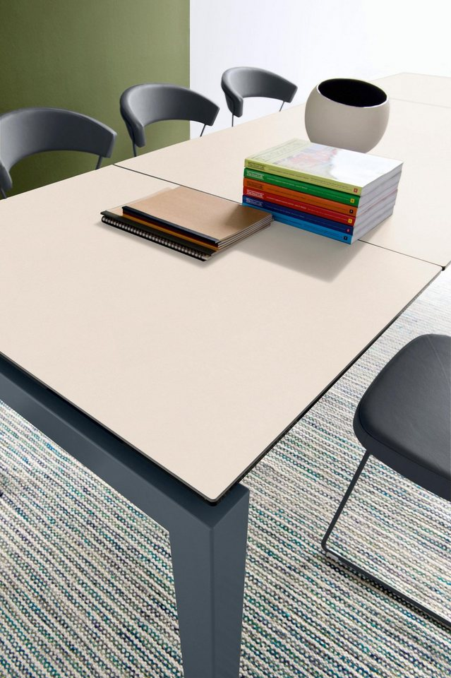 moderner Esstisch im italienischen Design mit Platte aus Keramik »Airport«, 130×90 cm