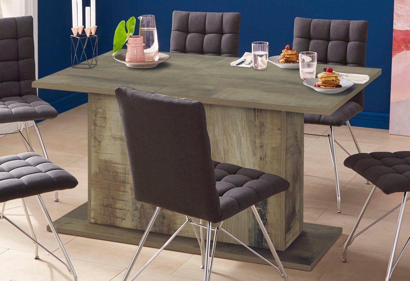 Esstisch mit Auszugfunktion 180-230 cm, ahorn perera – in 4 Farben und 3 Größen