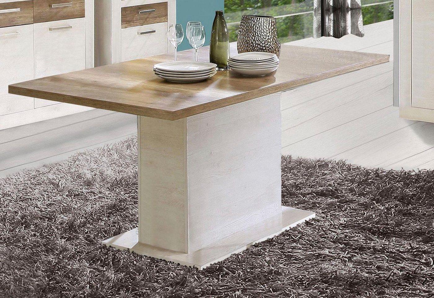 Forte Esstisch – Säulentisch ausziehbar auf 2 m