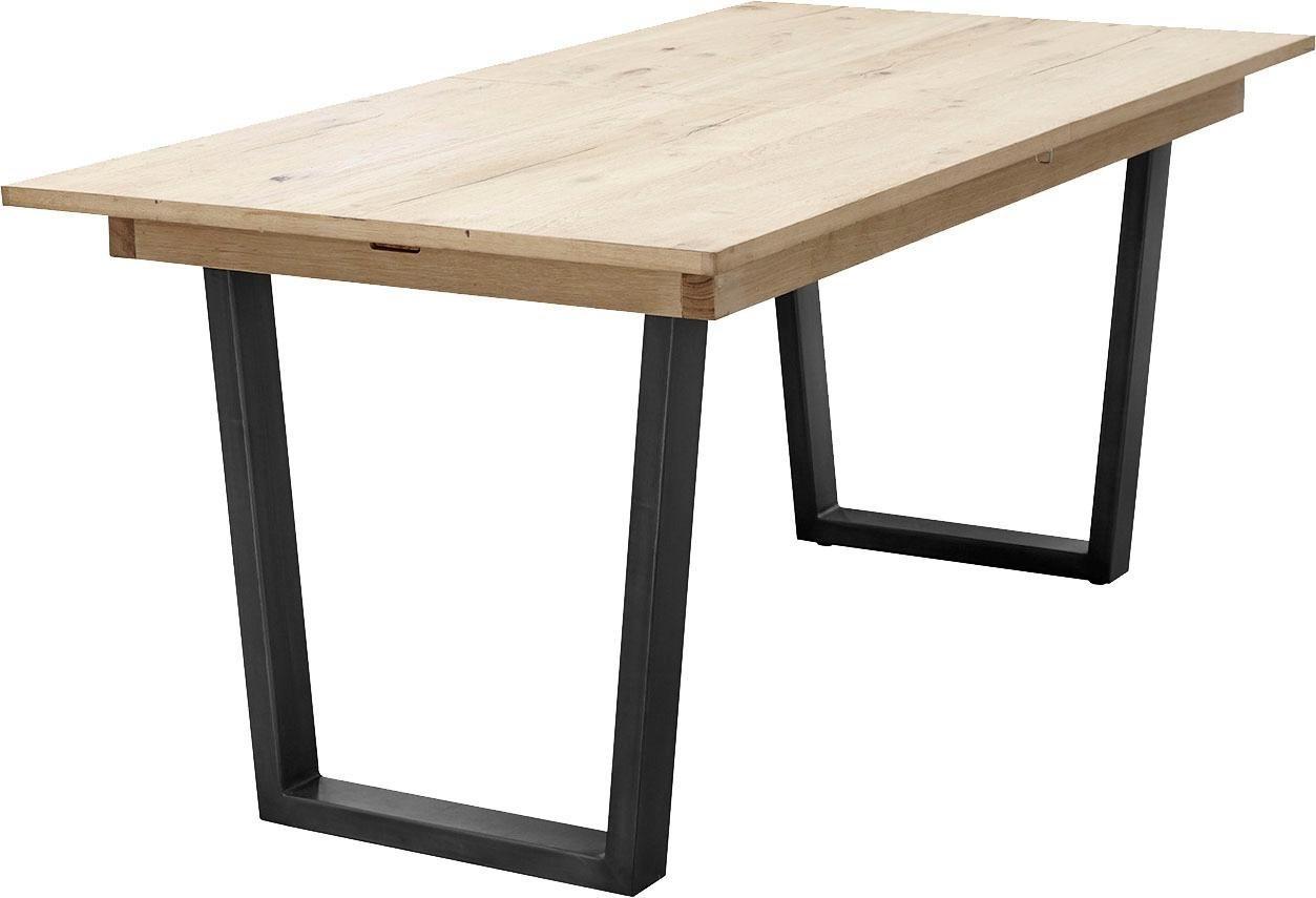 moderner Esstisch mit Metallbeinen in Anthrazit und Tischplatte aus Eiche 160×90 cm