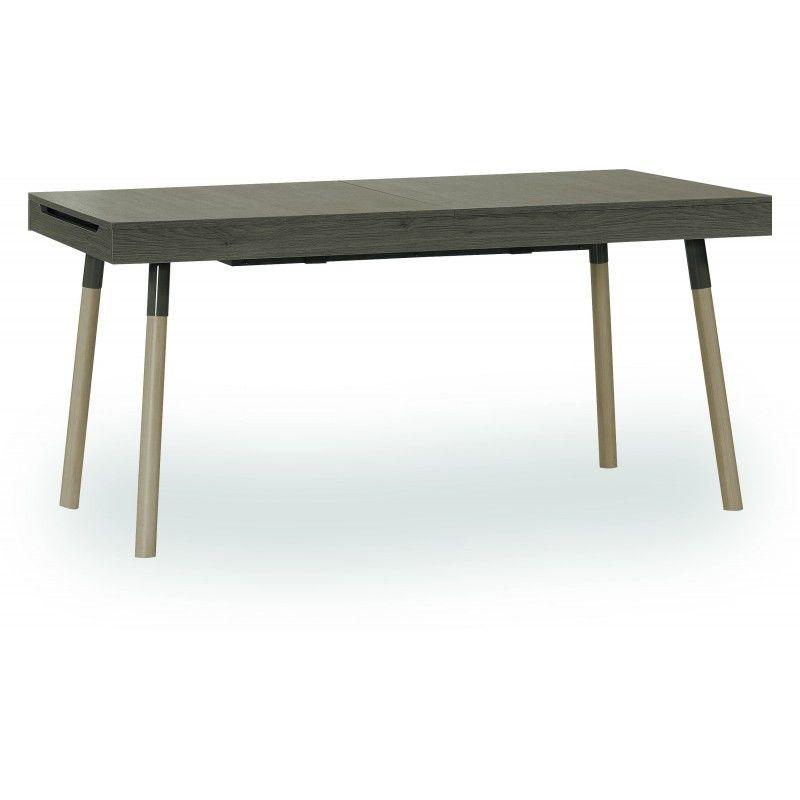 """Design Esstisch """"Loris"""" mit Stauchfach, 160×90 cm ausziehbar auf 240 cm aus Massivholz"""